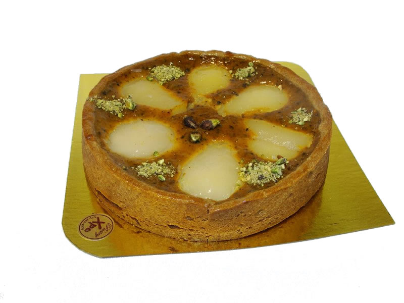 Sweet Potato, Pistachio and Pear Tart