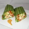 Breakfast Burrito in a Spinach Wrap