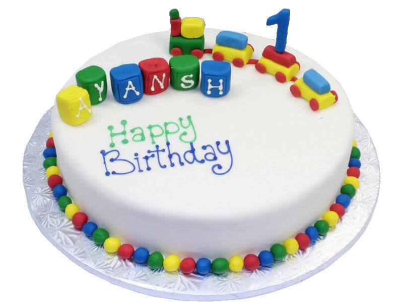 Choo-Choo 1st Birthday Cake
