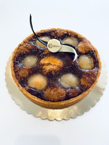 Pear Chocolate Espresso Tart